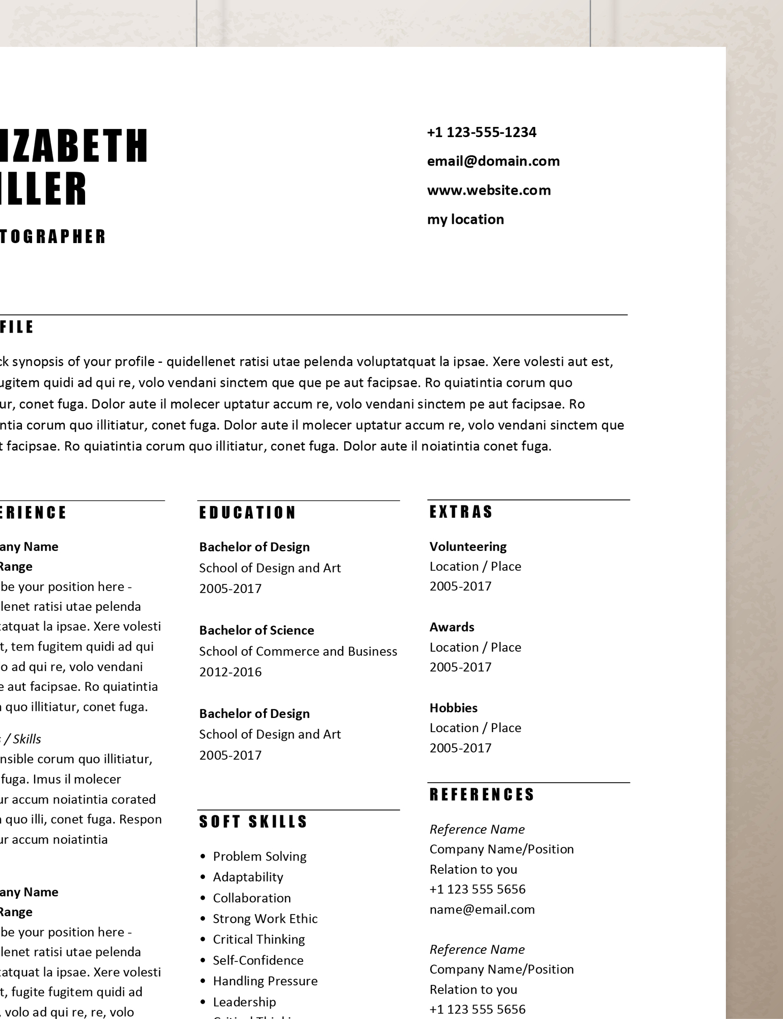simple resume templates rumble design store professional template third doctoral student Resume Professional Simple Resume Template
