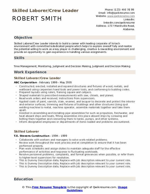 skilled laborer resume samples qwikresume skill set format pdf guide financial advisor Resume Skill Set Resume Format