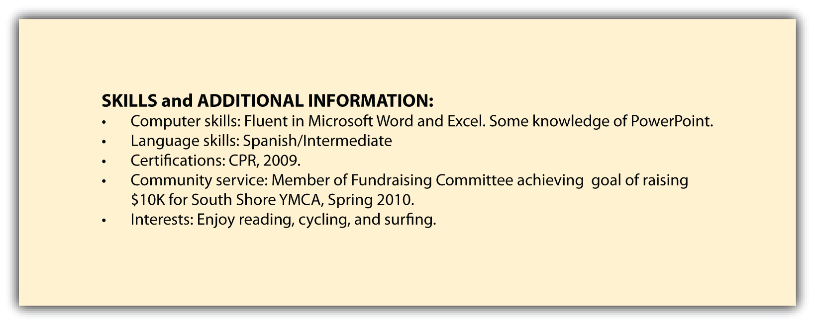 skills additional information and references to put on resume or nurse examples of good Resume Additional Skills To Put On Resume
