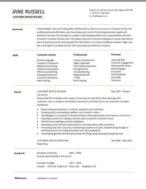 skills on customer service resume customers sample templates project manager examples Resume Customer Service Skills Resume Examples