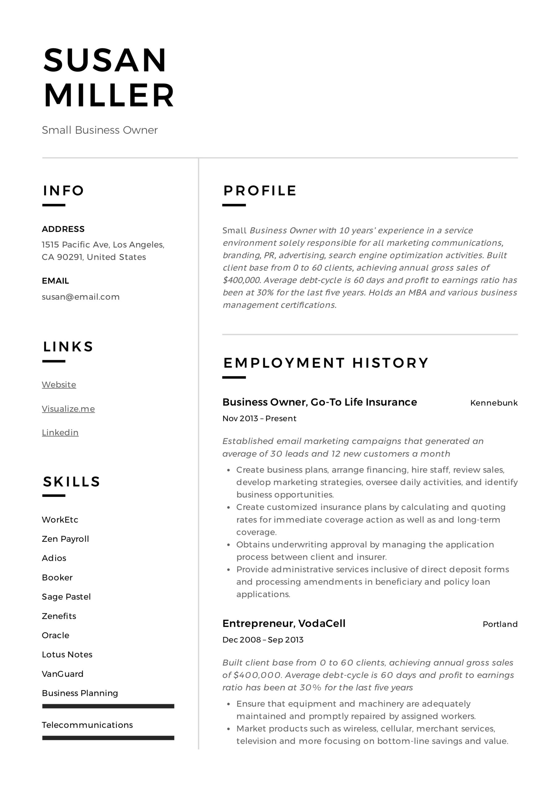 small business owner resume guide examples pdf entrepreneur example high school sports Resume Entrepreneur Resume Examples