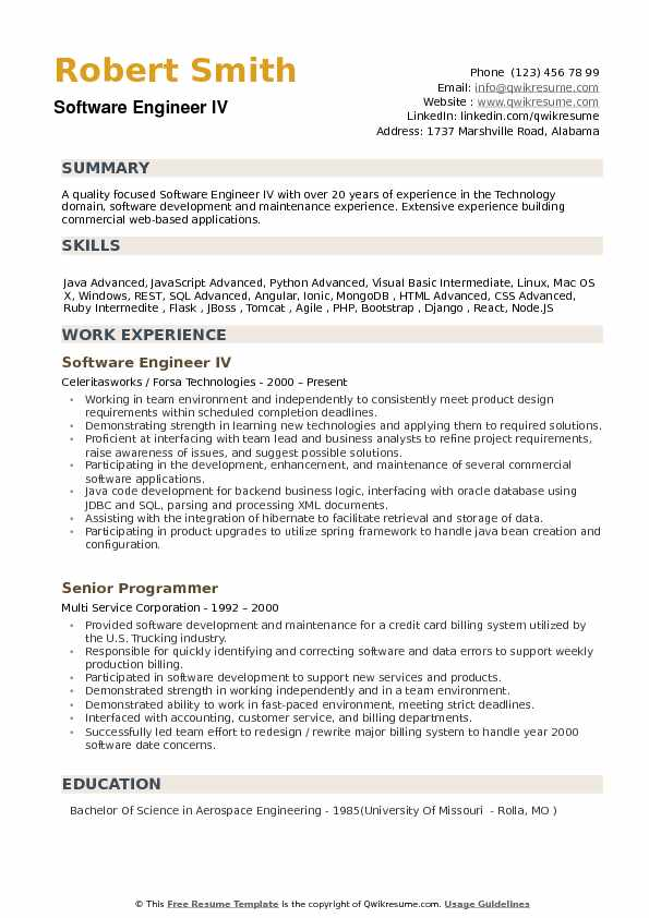 software engineer resume samples qwikresume format for pdf tableau public cal poly Resume Resume Format For Software Engineer
