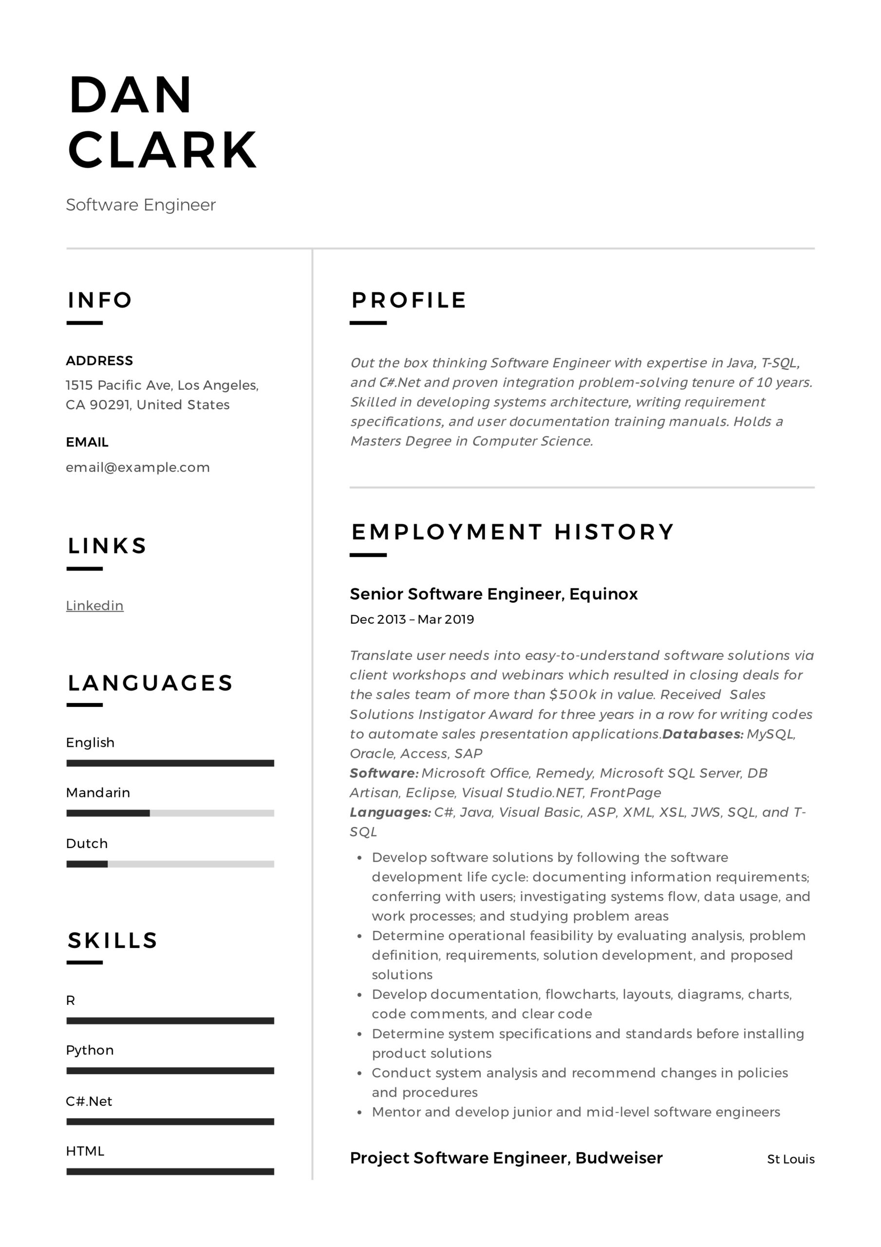 software engineer resume writing guide samples pdf automotive dan template education Resume Automotive Software Engineer Resume