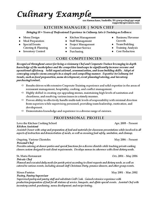 sous chef resume example for position sample chef1a back office operations cyber security Resume Resume For Chef Position