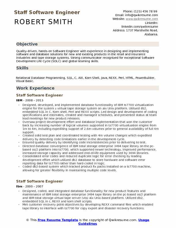 staff software engineer resume samples qwikresume template pdf broker sample objective Resume Resume Software Engineer Template
