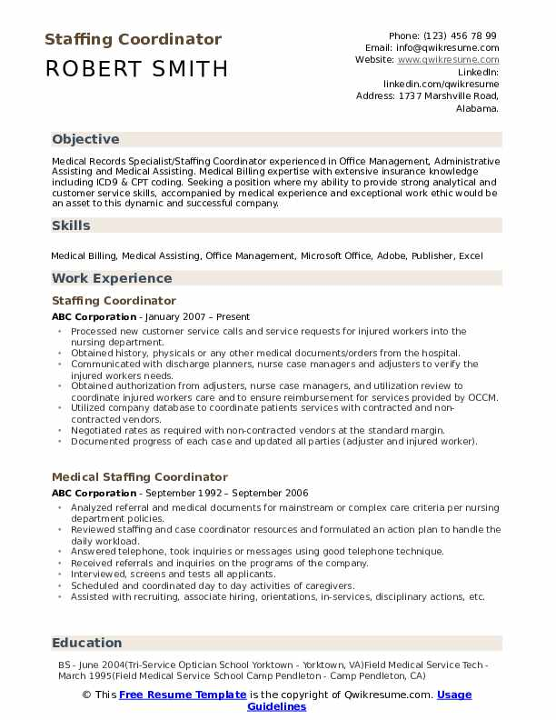 staffing coordinator resume samples qwikresume temp job description pdf qc inspector Resume Temp Job Description Resume