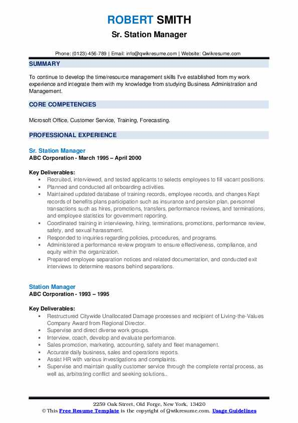 station manager resume samples qwikresume service pdf automation should you put your gpa Resume Service Station Manager Resume