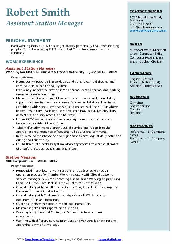 station manager resume samples qwikresume service pdf offshore team lead examples Resume Service Station Manager Resume