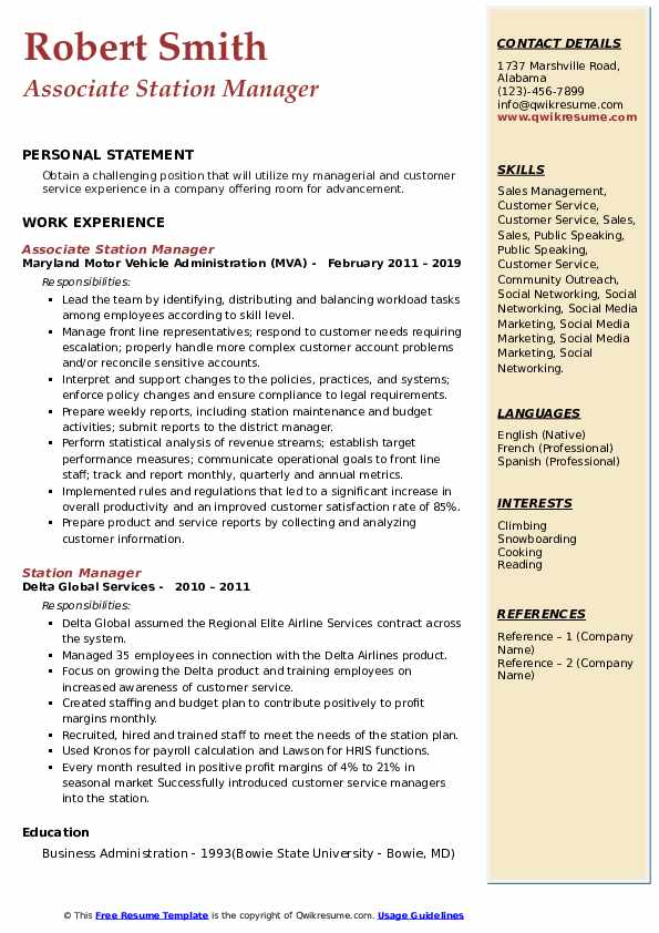station manager resume samples qwikresume service pdf should you put your gpa on offshore Resume Service Station Manager Resume