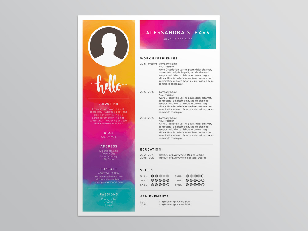 stravv resume free colorful template for job seeker make and save format first ghc Resume Make And Save Resume For Free