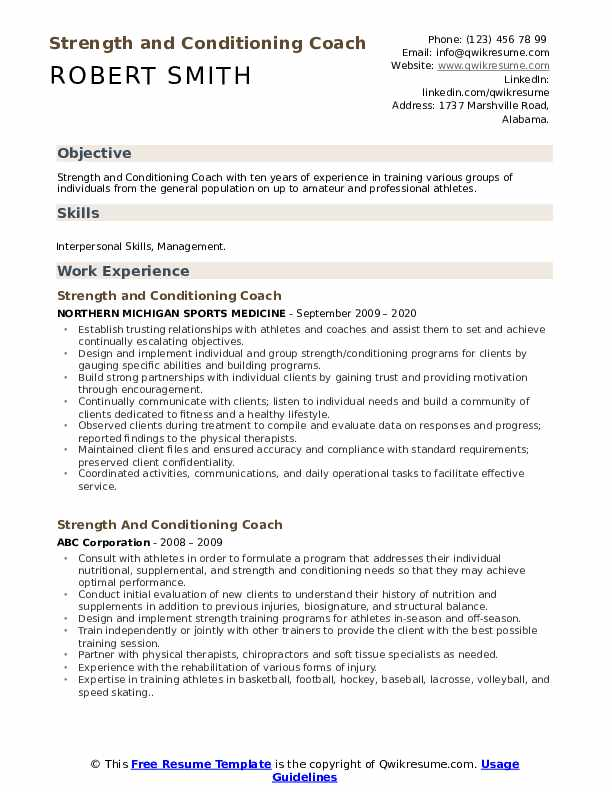 strength and conditioning coach resume samples qwikresume strengths for examples pdf Resume Strengths For Resume Examples