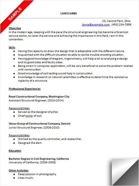 structural engineer resume sample medical templates examples engineering student for Resume Structural Engineering Resume Sample