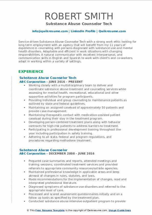 substance abuse counselor resume samples qwikresume templates pdf creative infographic Resume Substance Abuse Counselor Resume Templates