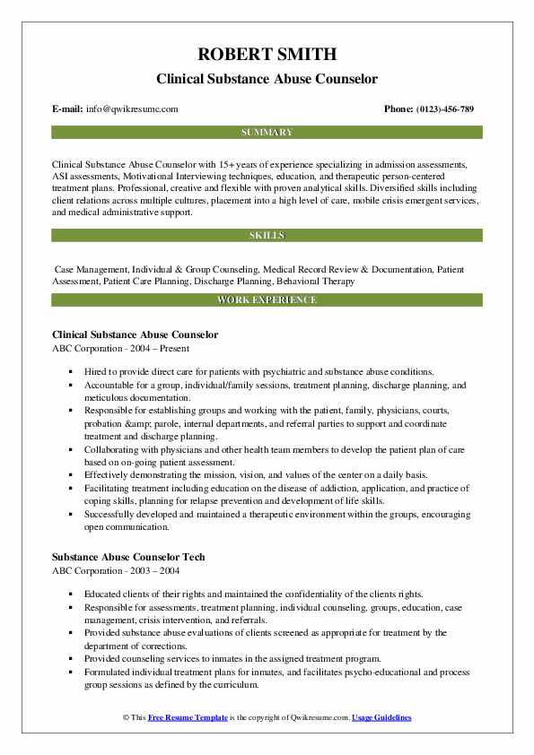 substance abuse counselor resume samples qwikresume templates pdf medical billing and Resume Substance Abuse Counselor Resume Templates