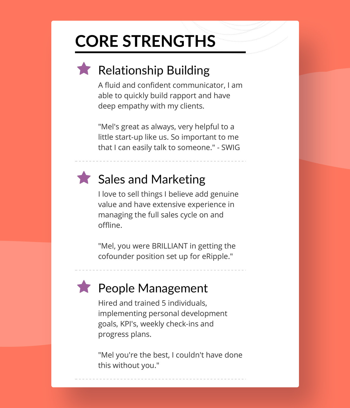 successful resumes do they right building resume melanie strengths typical layout format Resume Building A Sales Resume
