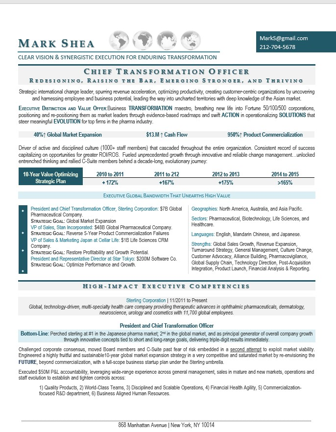 suite senior executive resume samples writing ceo coo cfo template chief transformation Resume Executive Resume Template 2020