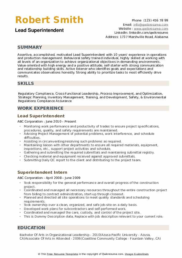 superintendent resume samples qwikresume construction pdf content manager golf caddy good Resume Construction Superintendent Resume Pdf