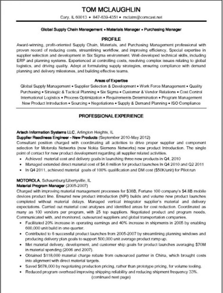 supply chain manager resume example job examples restaurant server sample free templates Resume Supply Chain Manager Resume