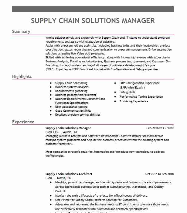 supply chain manager resume example surna construction company combination template free Resume Supply Chain Manager Resume