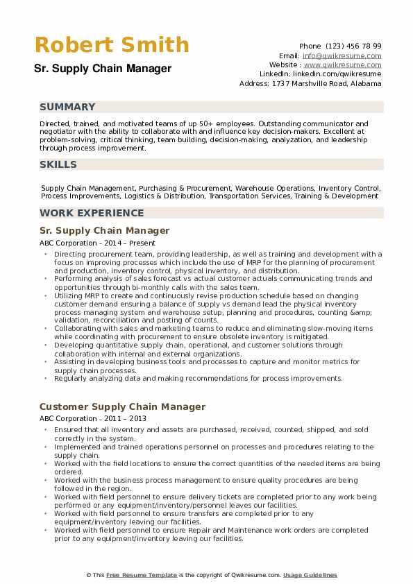 supply chain manager resume samples qwikresume pdf combination template tips for Resume Supply Chain Manager Resume