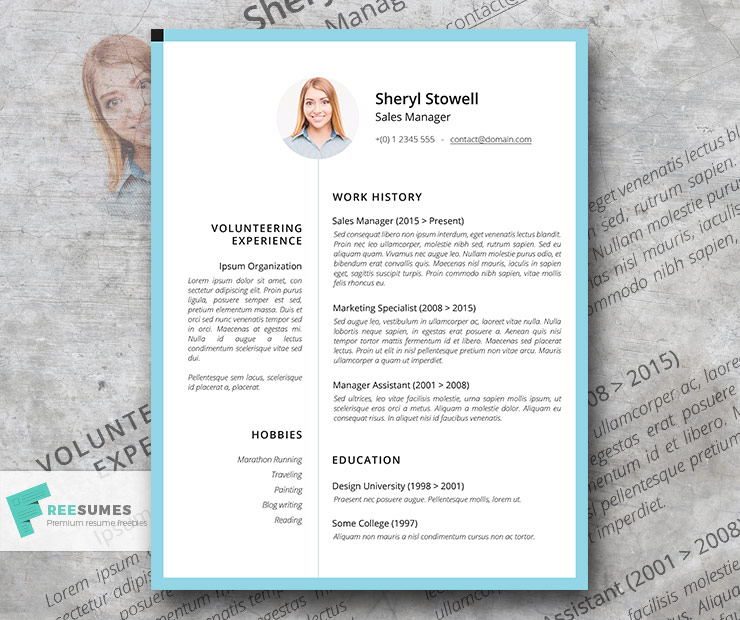 sweet simple light professional resume template freesumes and song without experience Resume Professional Simple Resume Template