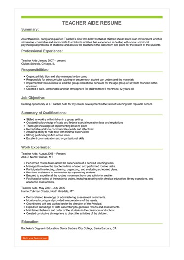 teacher aide resume example elementary assistant sample image fraud format for cma Resume Elementary Teacher Assistant Resume