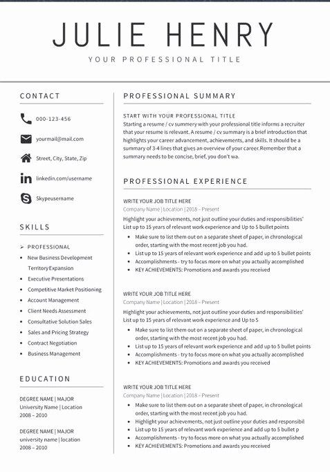 teacher resume examples beautiful sample format templates template free education best in Resume Best Resume In 2020