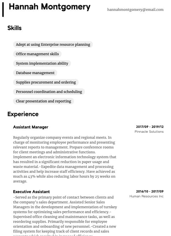team leader resume samples all experience levels examples for administrative thumbnail Resume Resume Examples For Team Leader