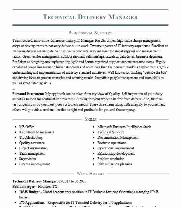 technical delivery manager resume example accenture rocky service good competencies for Resume Cloud Service Delivery Manager Resume