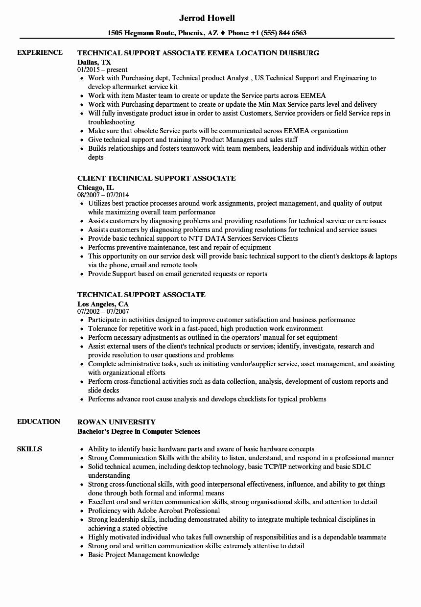 technical support resume examples fresh associate samples engineering subjects art Resume Technical Support Resume Samples