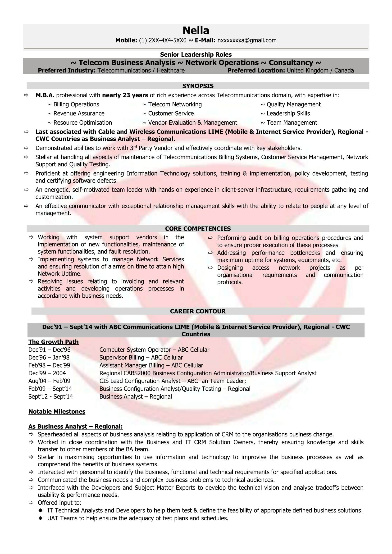 telecom manager sample resumes resume format templates product robin ryan examples for Resume Telecom Product Manager Resume