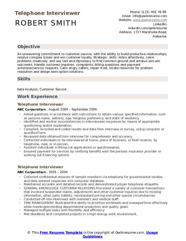 telephone interviewer resume samples qwikresume build phone number pdf procurement Resume Build Resume Phone Number