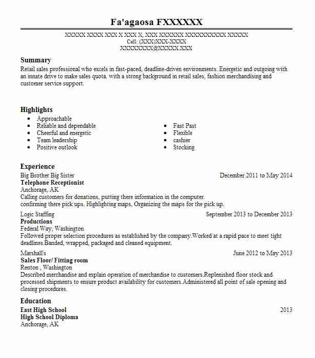 telephone receptionist resume example livecareer answering phones on ccna sample for Resume Answering Phones On Resume