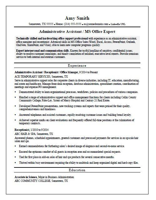 temp admin resume sample monster job description administrative assistant of counselling Resume Temp Job Description Resume