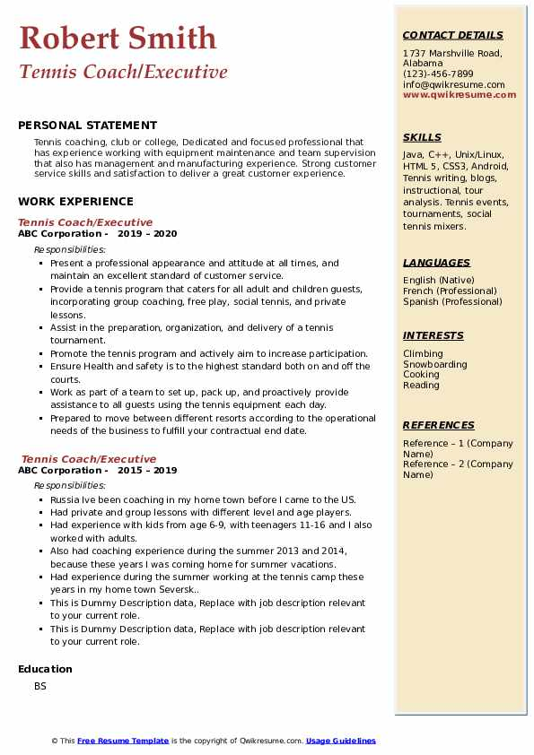 tennis coach resume samples qwikresume for college pdf simple steel structural engineer Resume Tennis Resume For College