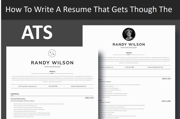 the best layout resume or cv for applicant tracking systems ats quora format system head Resume Resume Format For Applicant Tracking System