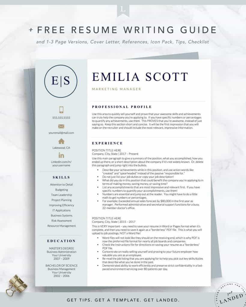 the best resume examples that get you hired in rnresumetemplate2 1400x 819x1024 Resume The Best Resume 2020