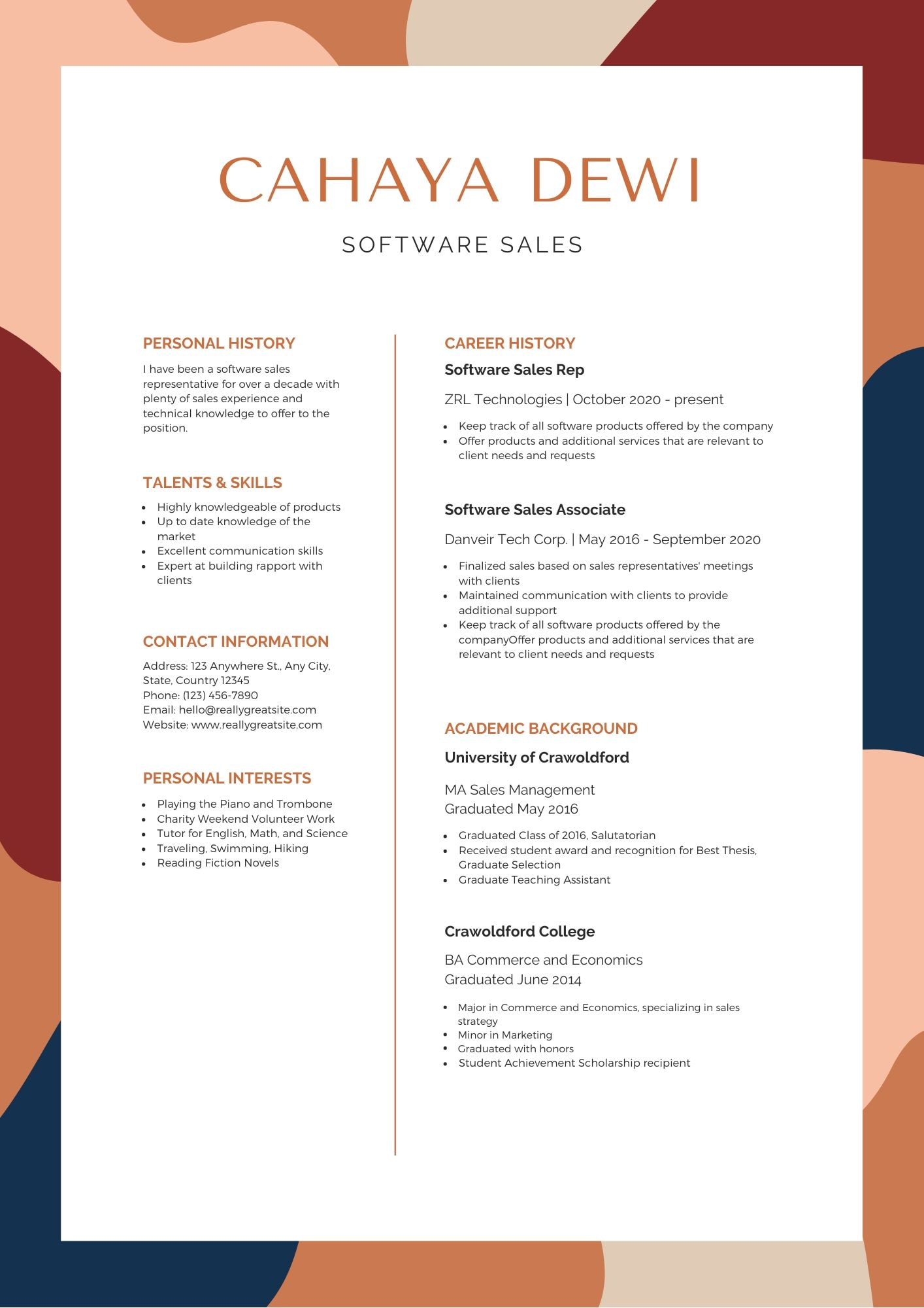 the best resume format canva design inspiration and black creative reverse chronological Resume Resume Design Inspiration 2020