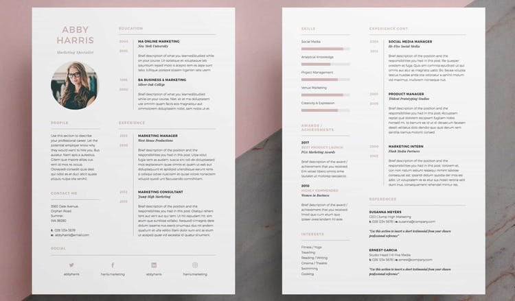 the indesign resume templates you need in redokun for adobe template address on summary Resume Resume Templates For Adobe Indesign