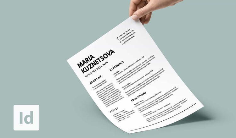 the indesign resume templates you need in redokun for adobe template front end developer Resume Resume Templates For Adobe Indesign