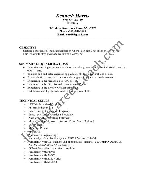 the mechanical engineer resume sample three in pdf dos and donts registered nurse Resume Mechanical Engineer Resume Sample