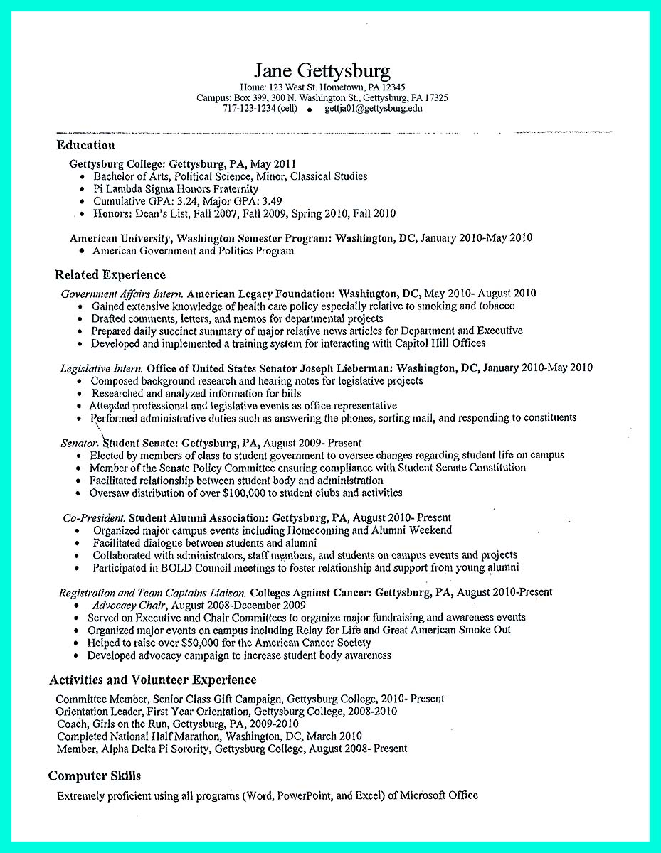 the perfect college resume template to get job baruch create call center supervisor Resume Baruch College Resume Template