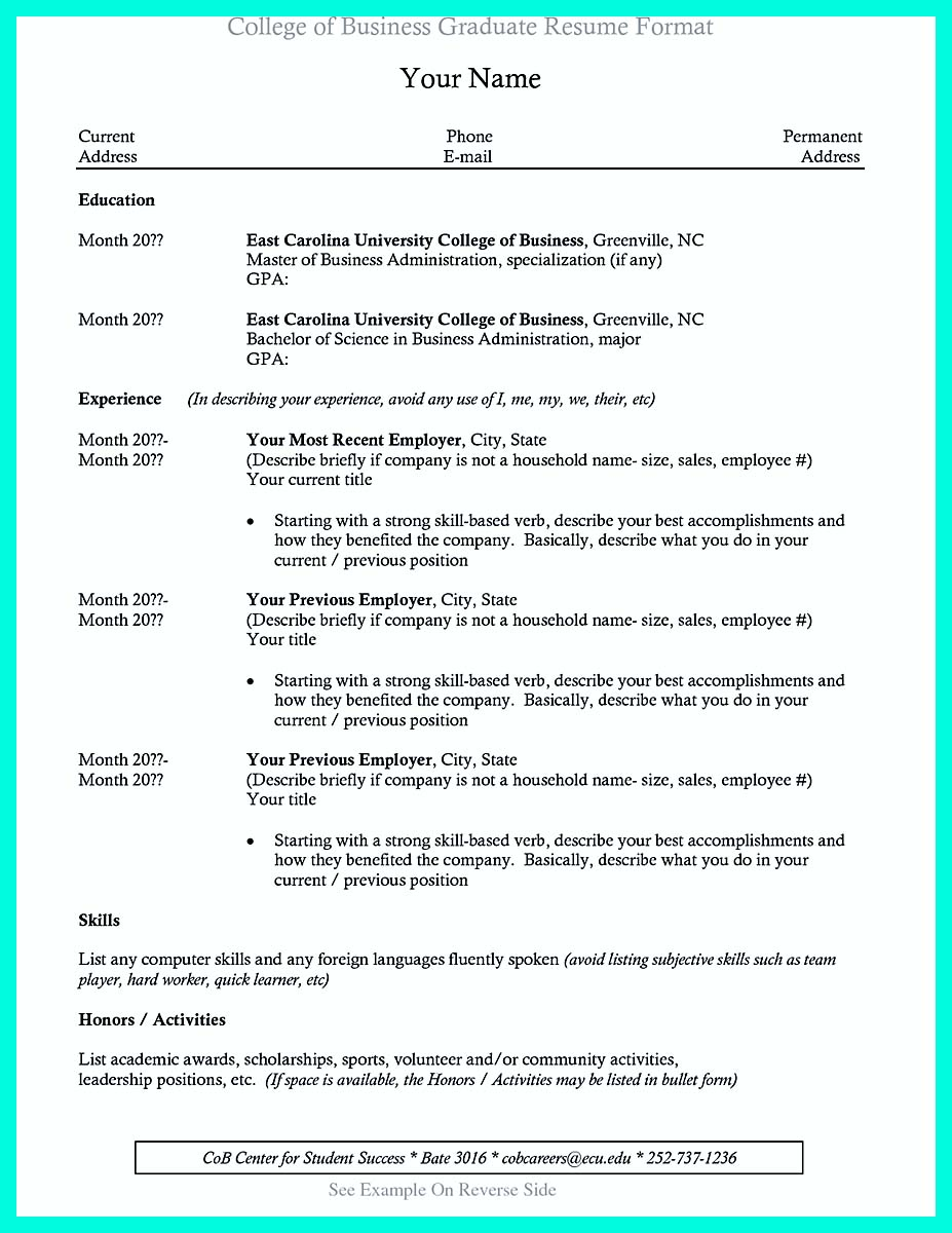 the perfect college resume template to get job baruch for internship business Resume Baruch College Resume Template