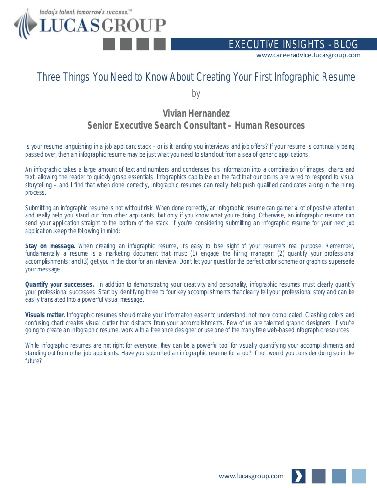 three things you need to know about creating your first infographic resume done Resume Need A Resume Done