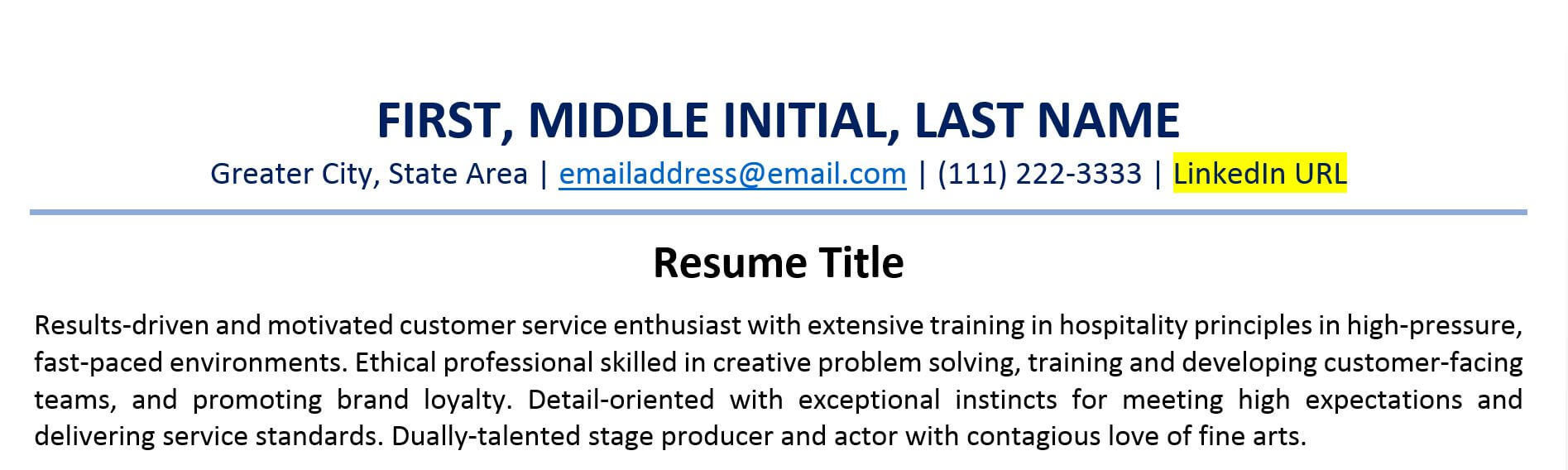 to include linkedin url on your resume examples create link example free readymade format Resume Create A Resume Link