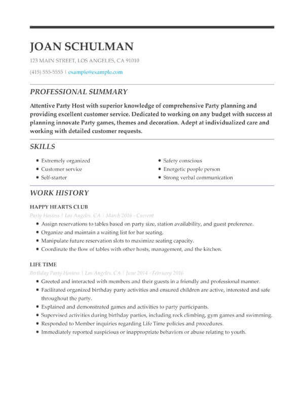 to include resume education examples tips section media entertainment birthday party host Resume Resume Education Section Examples