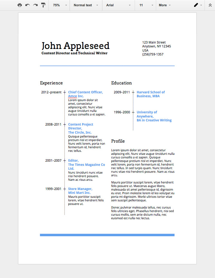to make professional resume in google docs can you create on functional hybrid cara Resume Can You Create A Resume On Google Docs