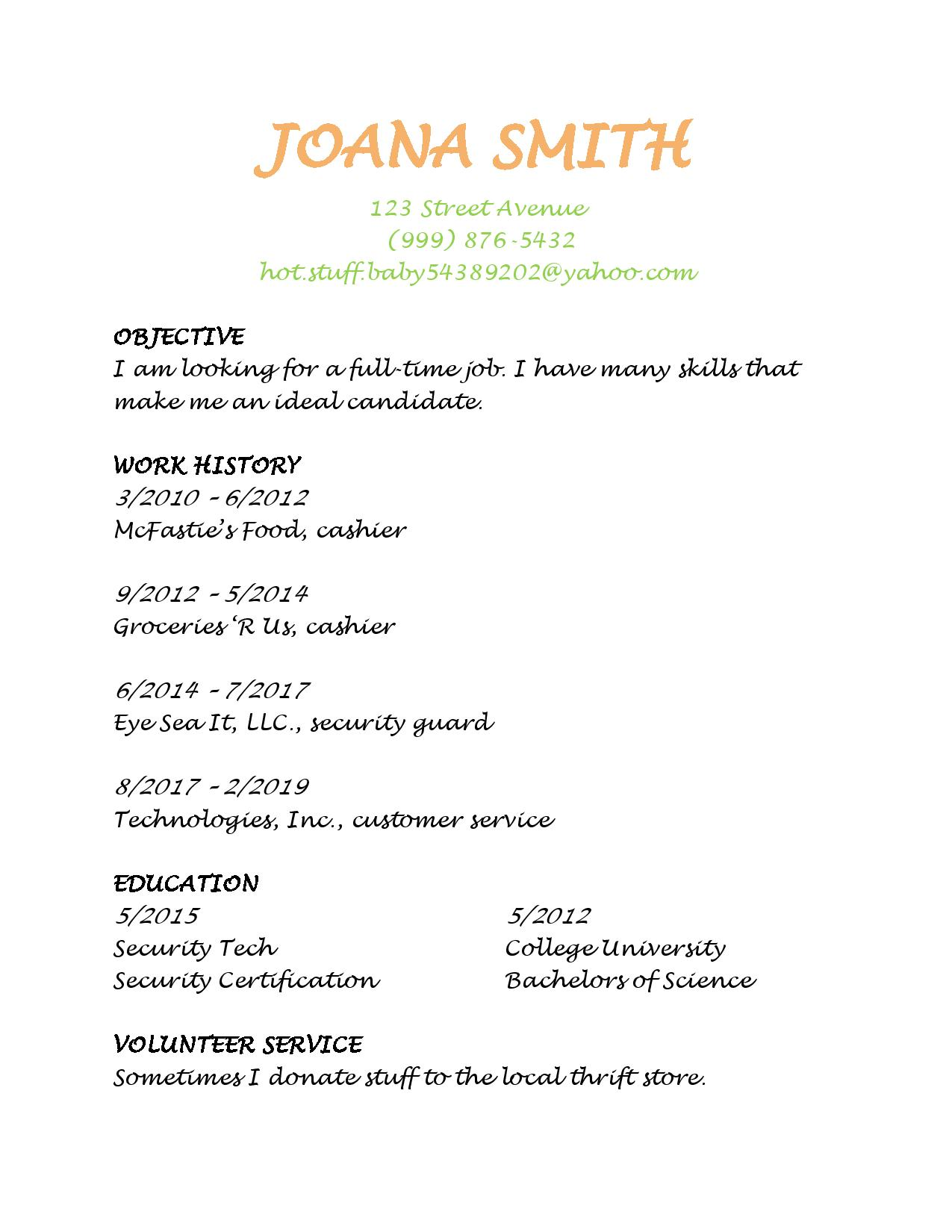 to make resume employers notice lucidpress an example of good resume1 on cardstock for Resume An Example Of A Good Resume