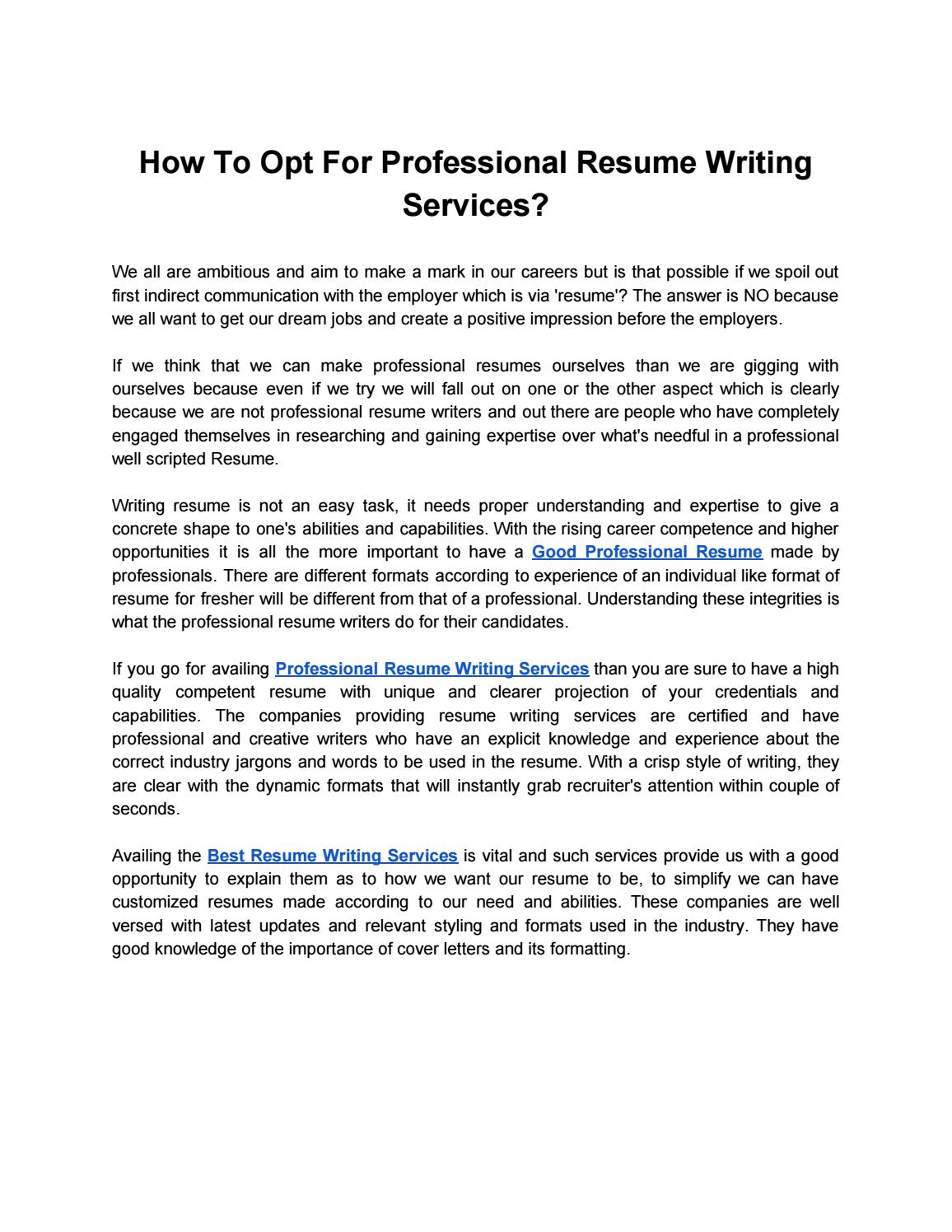 to opt for professional resume writing services by toplineresume89 issuu get made Resume Get Professional Resume Made