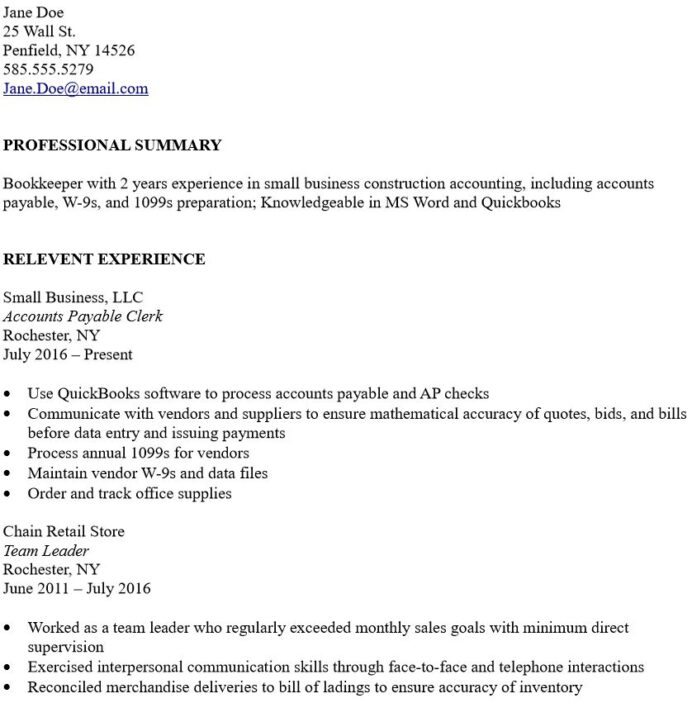 to write bookkeeper resume with little experience the korean accountant summary for no Resume Summary For A Resume With No Experience